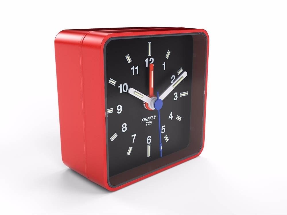 Fiery Red Glow in the Dark Alarm Clock